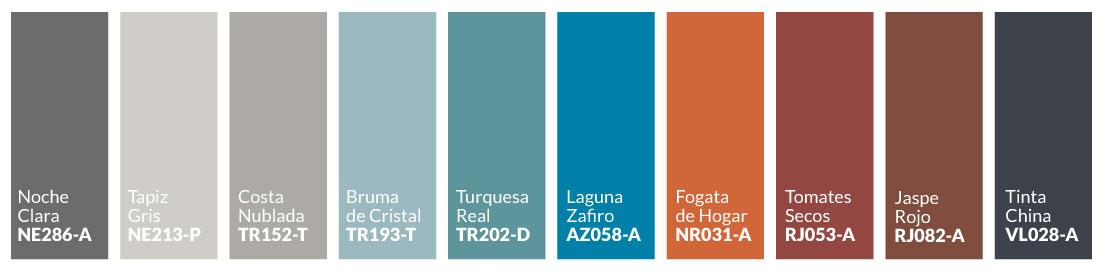 Paleta de colores Entorno Nativo