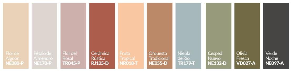 Paleta de colores Renovación Natural